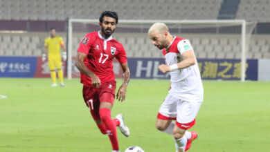 شاهد فيديو اهداف سوريا والمالديف في تصفيات كأس العالم 2022 «هاتريك للمواس»