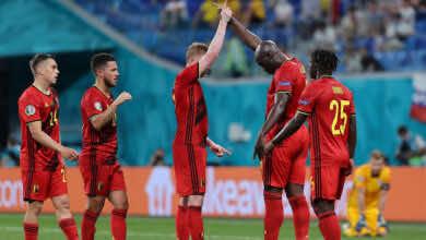 شاهد فيديو اهداف مباراة بلجيكا وفنلندا في يورو 2020.. تناغم لوكاكو ودي بروين