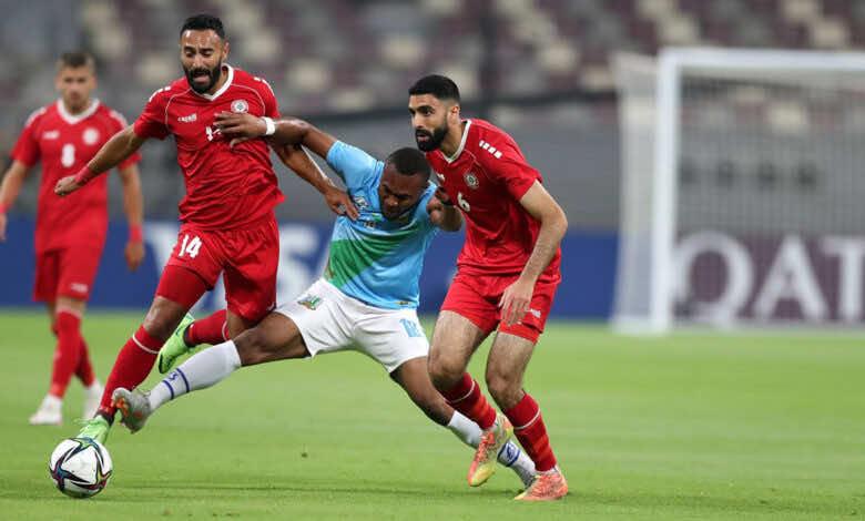 نتيجة مباراة لبنان وجيبوتي في كأس العرب 2021.. الأرز ينضم للمجموعة النارية