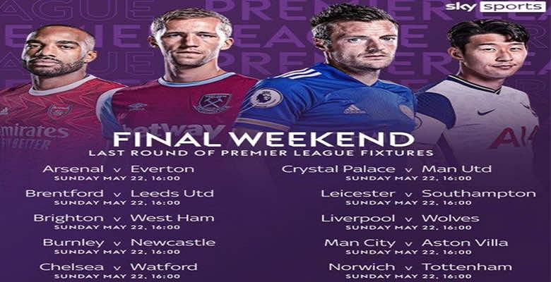 تعرف على مباريات الجولة الأخيرة من الدوري الإنجليزي للموسم الجديد