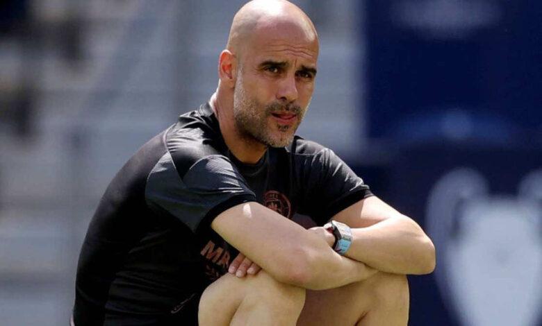 جوارديولا يرد على اهتمام برشلونة في لقائه مع لابورتا