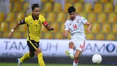 الإمارات تستعيد نغمة الانتصارات برباعية في ماليزيا بتصفيات كأس العالم 2022 (صور:twitter)