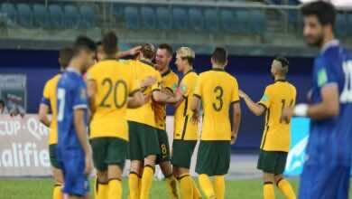 الكويت تتلقى هزيمة قاسية من أستراليا في استئناف تصفيات كأس العالم 2022 (صور:AFP)