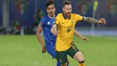 شاهد فيديو اهداف مباراة الكويت واستراليا فى تصفيات كأس العالم 2022 (صور:AFP)