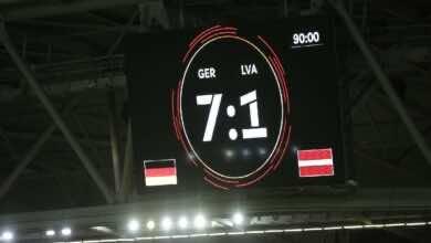 "ِشاهد فيديو اهداف مباراة المانيا ولاتفيا فى تحصيرات يورو 2020 ""الماكينات تضرب بسباعية"" (صور:AFP)"