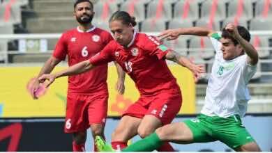 جدول ترتيب مجموعة لبنان في تصفيات كأس العالم 2022 بعد مباراة تركمانستان (صور:twitter)