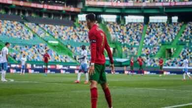 شاهد فيديو اهداف مباراة البرتغال والكيان الصهيوني فى تحضيرات يورو 2020 (صور:AFP)