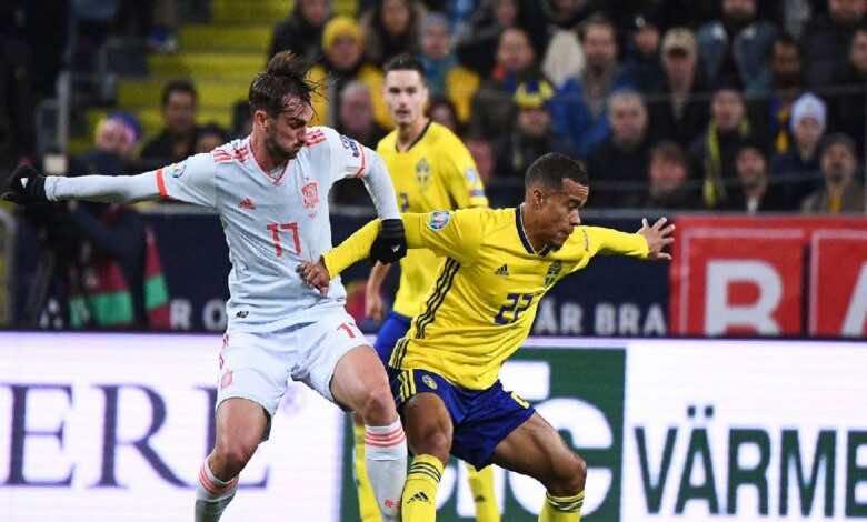موعد مباراة اسبانيا والسويد فى يورو 2020 والقنوات الناقلة (صور:AFP)