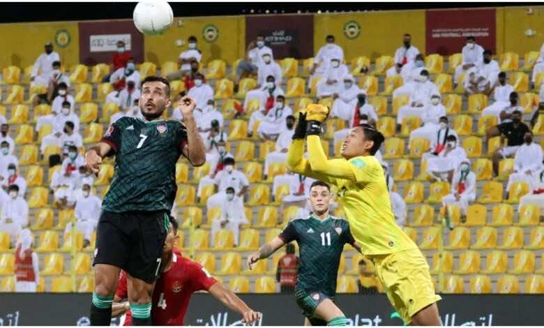 """شاهد فيديو اهداف مباراة الامارات واندونيسيا فى تصفيات كأس العالم 2022 """"تألق مبخوت وليما"""" (صور:AFP)"""