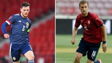 موعد مباراة اسكتلندا والتشيك فى يورو 2020 والقنوات الناقلة (صور:AFP)