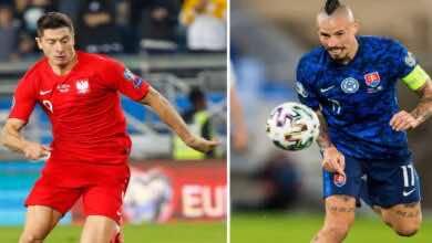 موعد مباراة بولندا وسلوفاكيا فى يورو 2020 والقنوات الناقلة (صور:AFP)