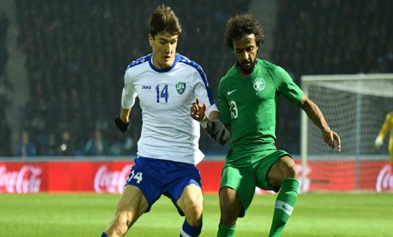 موعد مباراة السعودية وأوزبكستان فى تصفيات كأس العالم 2022 والقنوات الناقلة (صور:twitter)