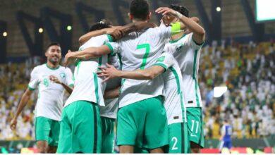 شاهد فيديو اهداف السعودية وأوزبكستان فى تصفيات كأس العالم 2022 (صور:twitter)