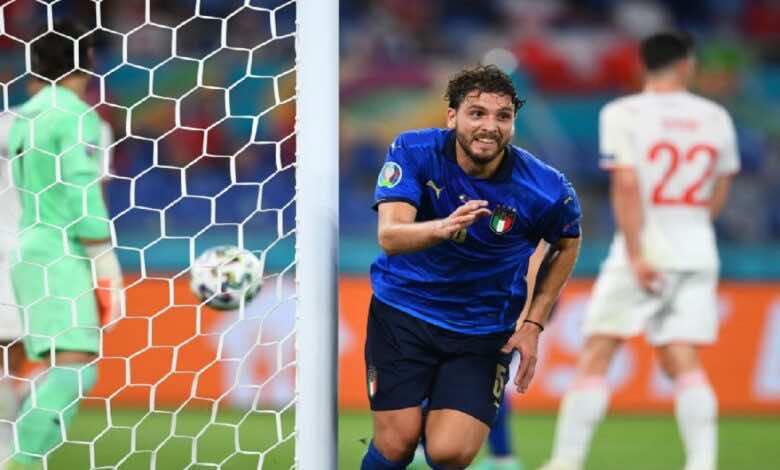 شاهد فيديو اهداف مباراة ايطاليا وسويسرا فى يورو 2020 (صور:twitter)