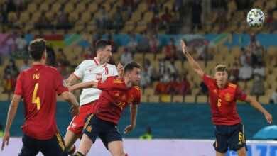 نتيجة مباراة اسبانيا وبولندا فى يورو 2020 (صور:AFP)