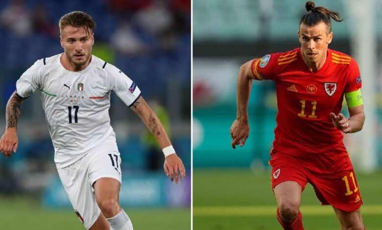 موعد مباراة ايطاليا وويلز فى يورو 2020 والقنوات الناقلة (صور:AFP)