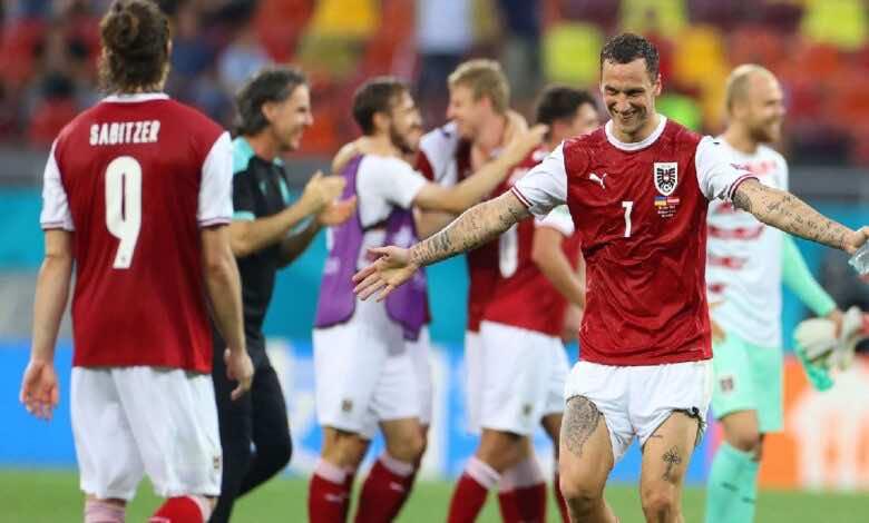 يورو 2020 | النمسا تُقصي أوكرانيا وتتأهل للمرة الأولي فى تاريخها الى ثمن النهائي (صور:AFP)