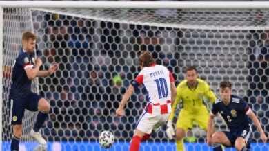 شاهد فيديو اهداف مباراة كرواتيا واسكتلندا في يورو 2020 (صور:AFP)