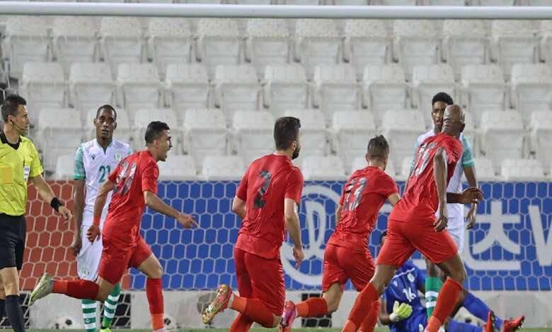 شاهد فيديو اهداف فلسطين وجزر القمر في كأس العرب 2021 (صور:AFP)