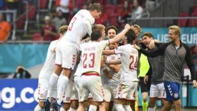 بطولة يورو 2020   الدنمارك تتأهل لدور الثمانية بفوز كبير على ويلز (صور:AFP)