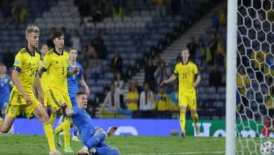 شاهد فيديو اهداف مباراة السويد واوكرانيا في يورو 2020 (صور:AFP)