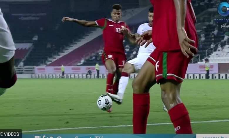 """شاهد فيديو اهداف مباراة عمان وقطر في تصفيات كأس العالم 2022 """"الحكم يظلم عُمان"""""""