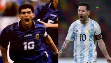 شاهد فيديو اهداف الارجنتين وتشيلي في تصفيات كأس العالم 2022 «ميسي يُكرم مارادونا»
