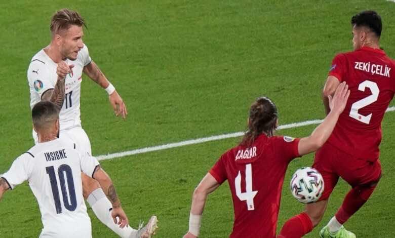 """نتيجة مباراة ايطاليا وتركيا في افتتاح يورو 2020 """"حصار غير عادي وثنائية مُستحقة"""""""
