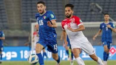 الاردن يُبدد آمال الكويت في التأهل إلى كأس أمم آسيا 2023