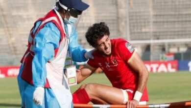 الاصابة أمام نهضة بركان تحرم الاهلي من محمد هاني في مباراة الترجي