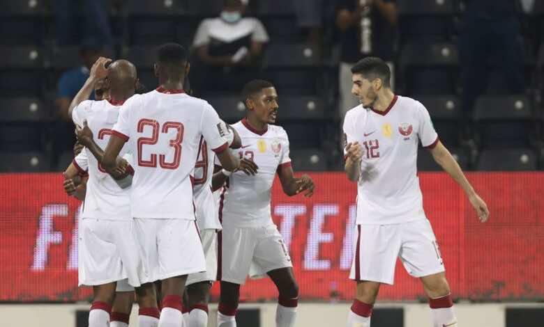 شاهد فيديو اهداف مباراة قطر والهند في تصفيات كأس العالم 2022 «فوز بسيط للعنابي»