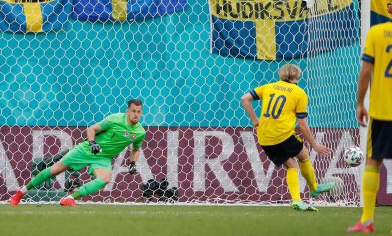 شاهد فيديو اهداف مباراة السويد وسلوفاكيا في يورو 2020.. فورسبيرج يفعلها
