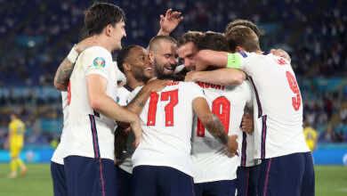 انجلترا تجتاح اوكرانيا وتصطدم بمنتخب الدنمارك في نصف نهائي يورو 2020