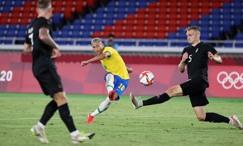 ملخص مباراة البرازيل والمانيا في اولمبياد طوكيو 2020.. رباعية صفراء