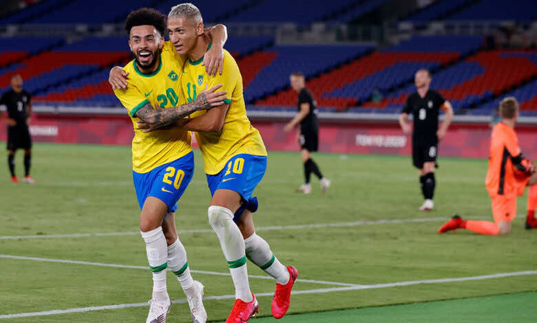 نتيجة مباراة البرازيل والمانيا في اولمبياد طوكيو 2020.. السامبا تدك الماكينات برباعية