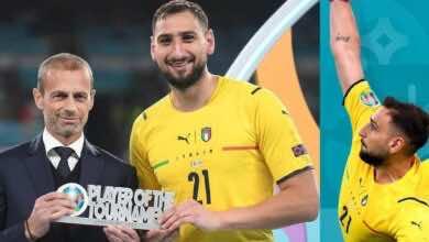 بعد تألقه أمام انجلترا.. اليويفا يمنح دوناروما جائزة أفضل لاعب في يورو 2020