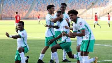 نتيجة مباراة مصر والسعودية في بطولة كأس العرب للشباب (صور:twitter)