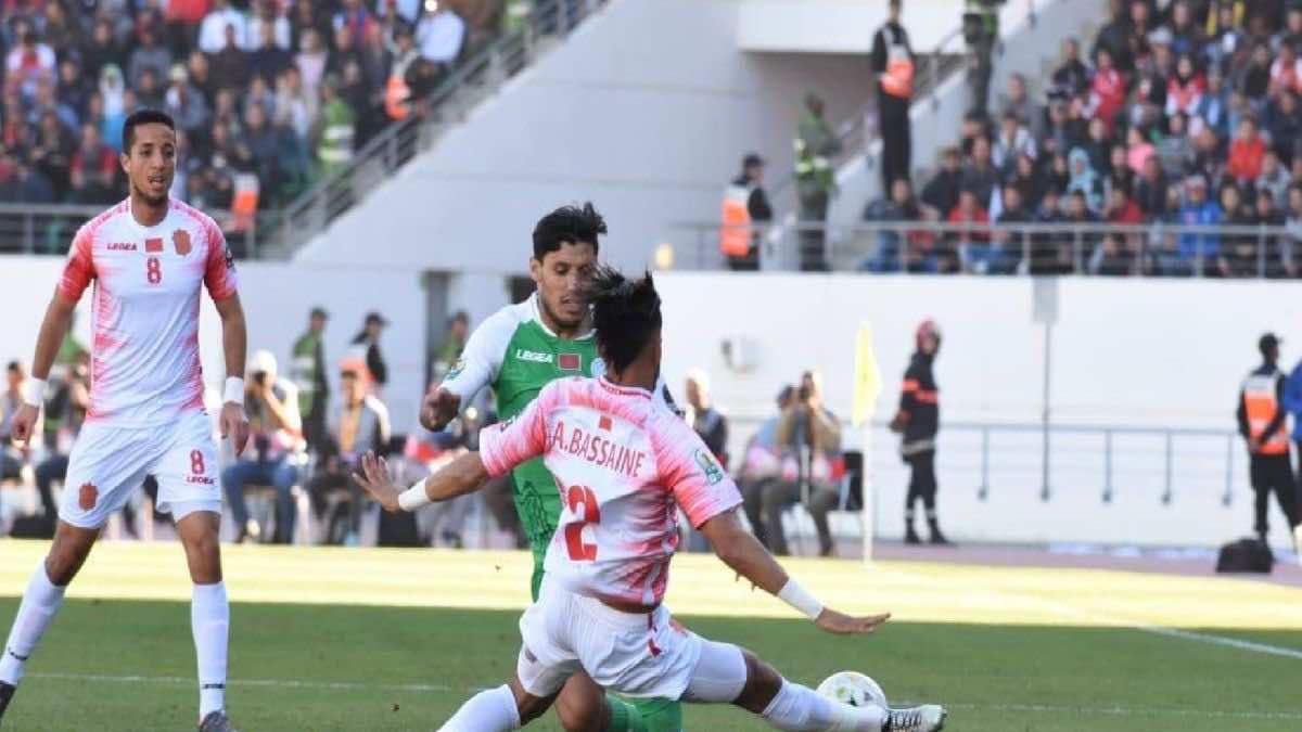 شاهد فيديو اهداف مباراة الرجاء وحسنية أكادير في الدوري المغربي اليوم
