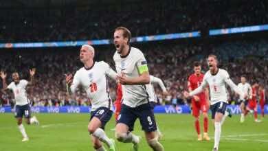 نتيجة مباراة انجلترا والدنمارك في بطولة يورو 2020 (صور:twitter)