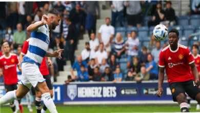 شاهد فيديو اهداف مباراة مانشستر يونايتد وكوينز بارك رينجرز اليوم (صور:twitter)