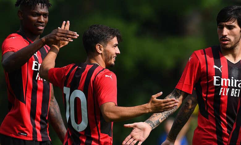 شاهد فيديو اهداف مباراة ميلان ومودينا ضمن استعدادات الموسم الجديد
