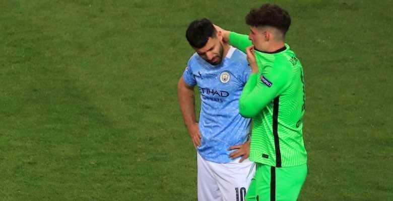 رحيل اجويرو عن مانشستر سيتي بعد نهائي دوري أبطال أوروبا 2021 - صور Getty