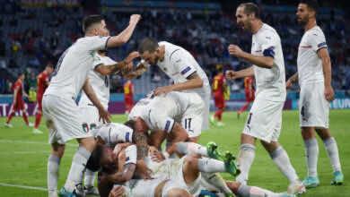 نتيجة مباراة ايطاليا وبلجيكا في يورو 2020.. الآزوري يواجه اسبانيا في المربع الذهبي بذكريات نهائي نسخة 2012