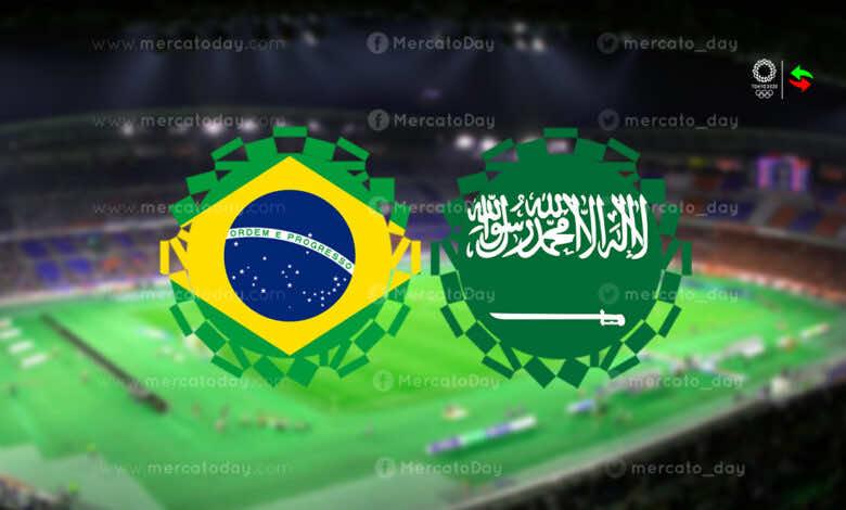 ملخص مباراة السعودية والبرازيل في منافسات كرة القدم بـ اولمبياد طوكيو 2020