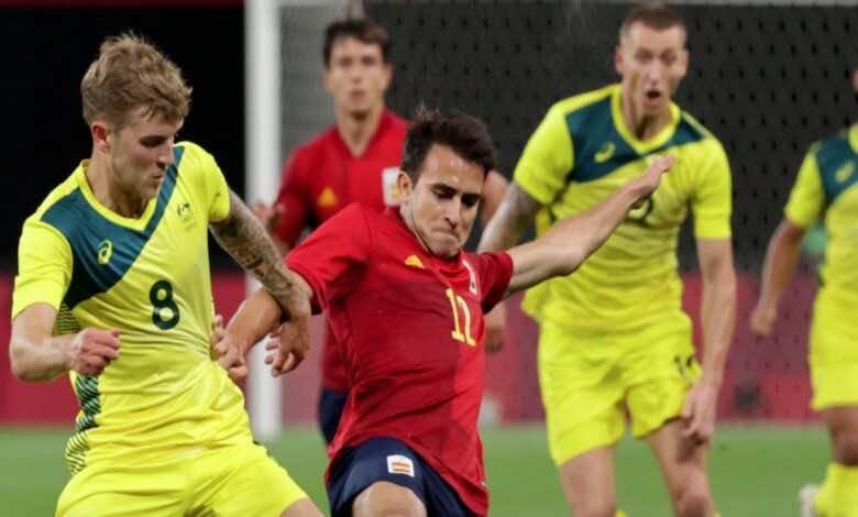 مباراة اسبانيا واستراليا في اولمبياد طوكيو 2020
