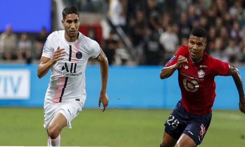 شاهد فيديو اهداف مباراة باريس سان جيرمان وليل في كأس السوبر الفرنسي (صور:twitter)