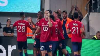نتيجة مباراة باريس سان جيرمان وليل في كأس السوبر الفرنسي (صور:twitter)