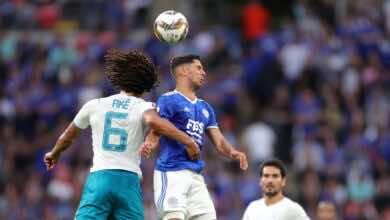 مشاهدة ملخص مباراة مانشستر سيتي وليستر سيتي في كأس الدرع الخيرية (صور:AFP)