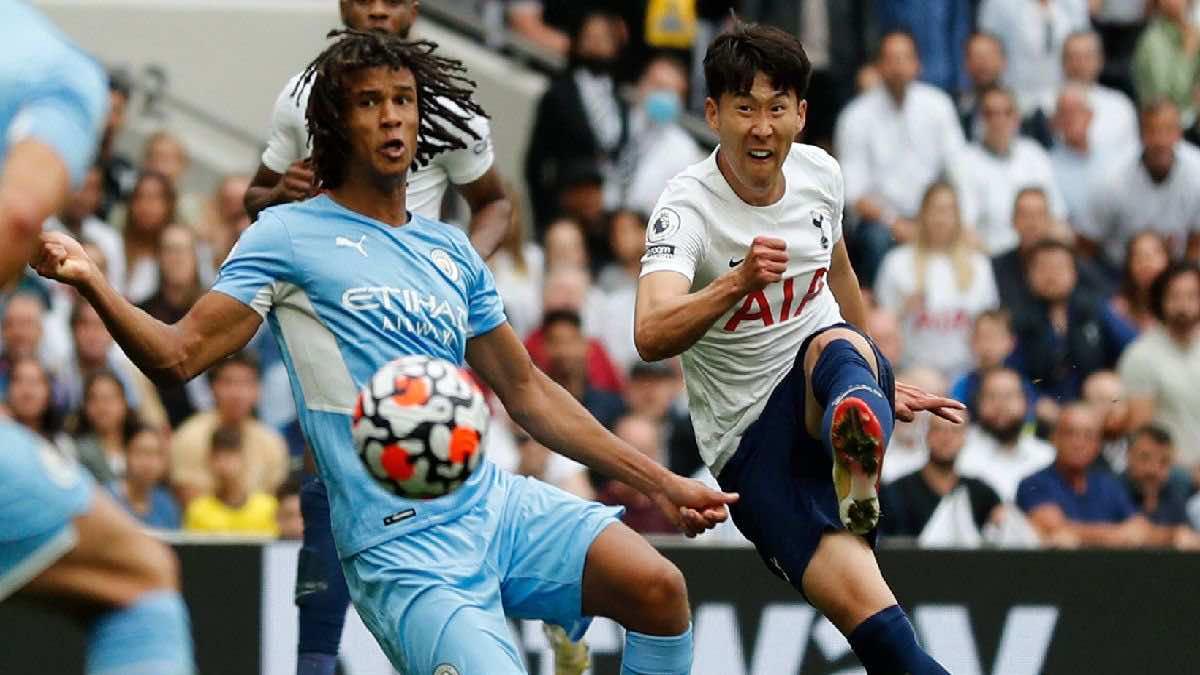 شاهد فيديو اهداف مباراة مانشستر سيتي وتوتنهام في الدوري الانجليزي (صور:AFP)