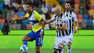 يوفنتوس يستهل مشواره في الدوري الايطالي بالتعادل مع أودينيزي (صور:AFP)